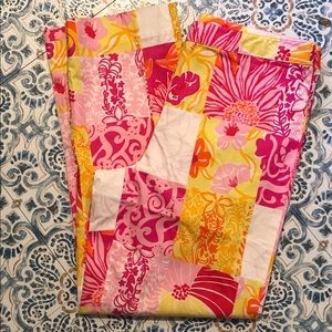 Lilly Pulitzer Pants - Adorable Vintage Lilly Pulitzer Patchwork Capris